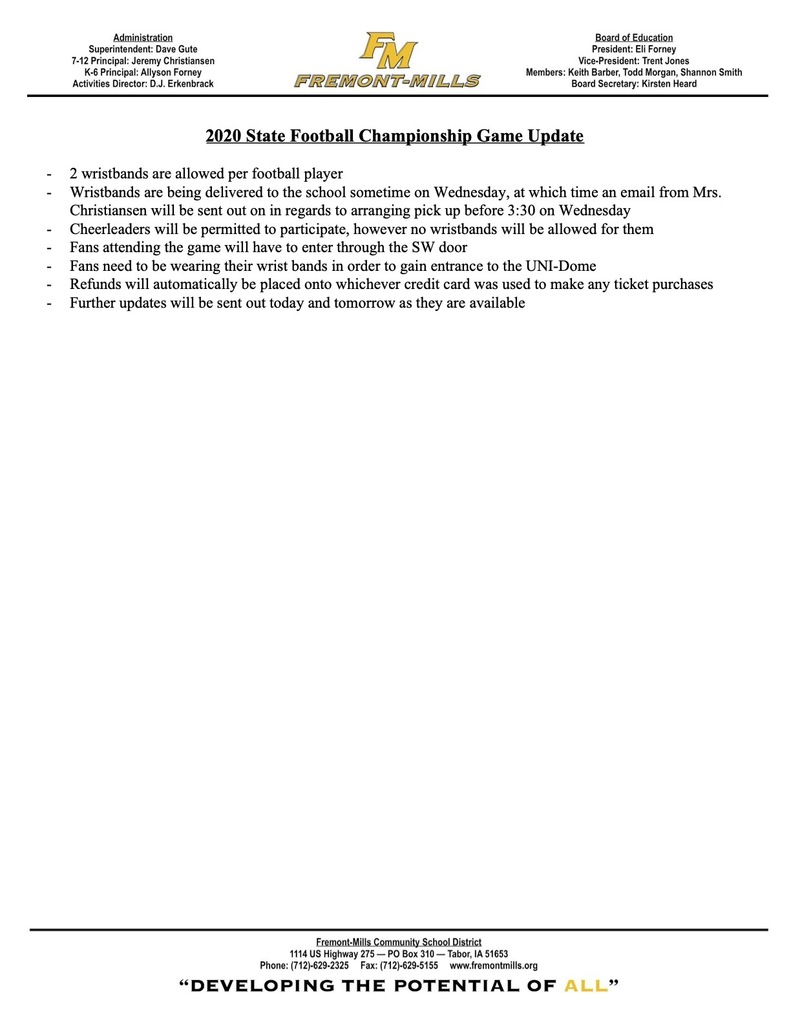 State Championship Update