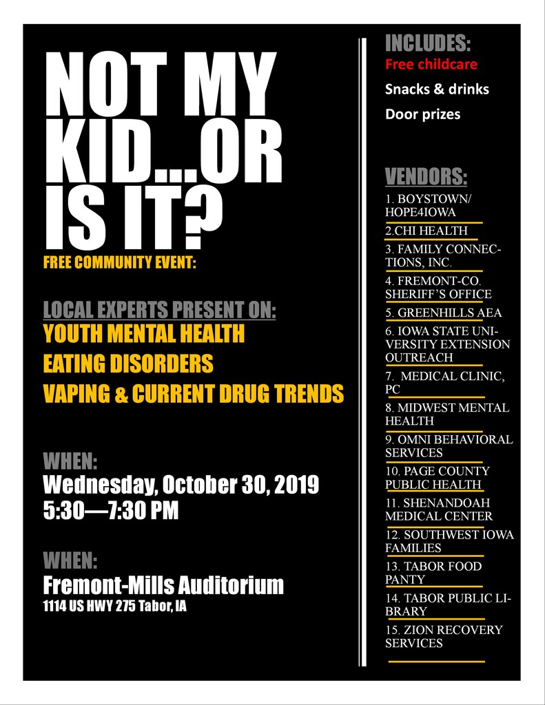 Mental Health Awareness Night Flyer